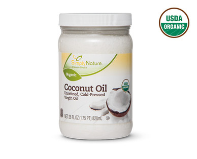 SimplyNature Large Organic Coconut Oil