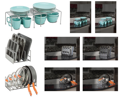ALDI US - Crofton Mesh Kitchen Cabinet Organizer Assortment