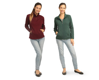 Serra Ladies' Marled Fleece Top View 2