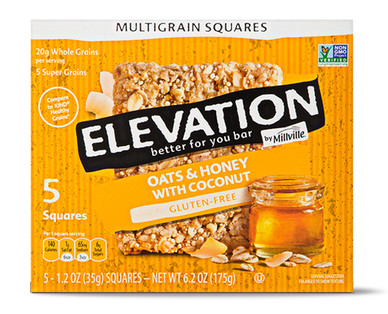 Elevation by Millville Oats & Honey with Coconut Multigrain Squares