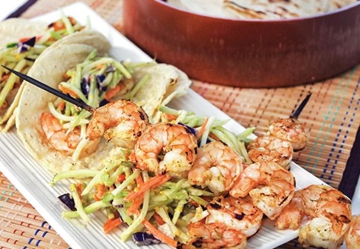 Margarita Grilled Shrimp Tacos