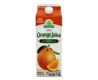 Nature's Nectar Not From Concentrate Orange Juice in Carton