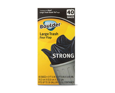 Boulder Four-Flap Heavy Duty Trash Bags