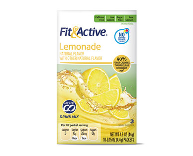 Fit & Active Single Serve Lemonade Drink Mix