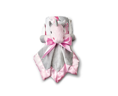 Little Journey 2-Piece Plush Baby Blanket and Cuddle Buddy View 1