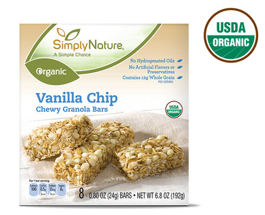 SimplyNature Organic Vanilla Chip Chewy Granola Bars