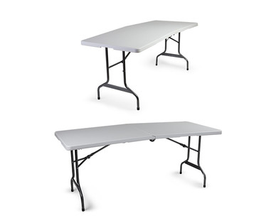 Easy Home 6' Folding Table with Wheels View 2