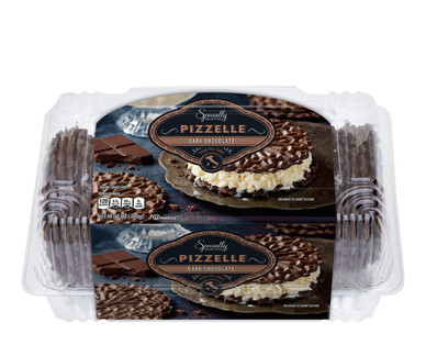 Specially Selected Dark Chocolate Pizzelle Cookies