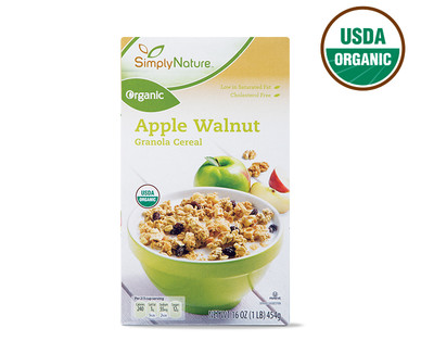 Simply Nature Organic Apple Walnut Granola Cereal
