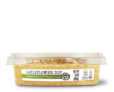 Park Street Deli Cauliflower Dip Roasted Chile & Pepper Jack- Side View