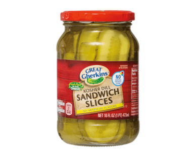 Great Gherkins Kosher Dill Sandwich Slices