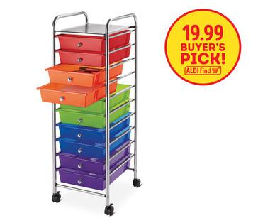aldi us easy home 10 drawer rolling storage cart. Black Bedroom Furniture Sets. Home Design Ideas
