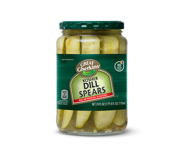 Great Gherkins Refrigerated Kosher Dill Spears