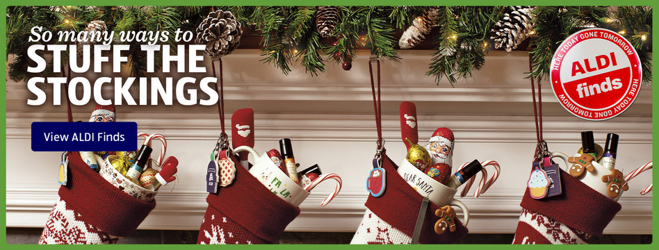 So many ways to stuff the stockings. View ALDI Finds.