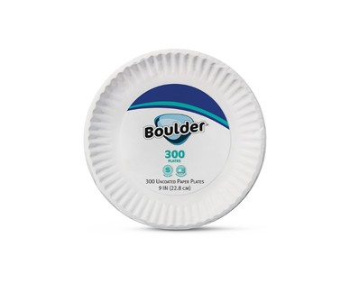 Boulder 300 ct. Uncoated Paper Plates View 1