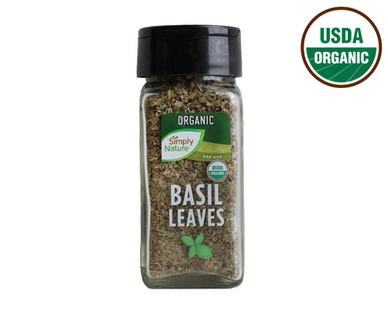 Simply Nature Organic Basil Leaves