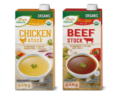 Simply Nature Organic Chicken or Beef Cooking Stock