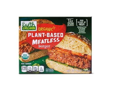 Earth Grown Organic Plant Based Meatless Burger View 2