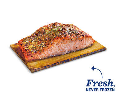 Fresh Honey Maple Atlantic Salmon on a Cedar Plank View 1