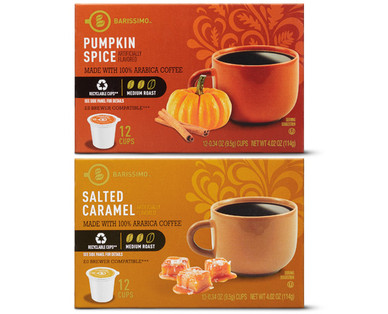 Barissimo Pumpkin or Salted Caramel Coffee Cups