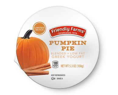 Friendly Farms Pumpkin Pie Lowfat Greek Yogurt