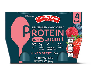 Friendly Farms Mixed Berry Protein Yogurt 4 Pack