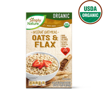 Simply Nature Oats & Flax Instant Oatmeal