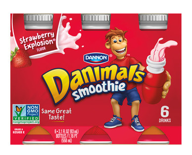 Dannon Strawberry Smoothies