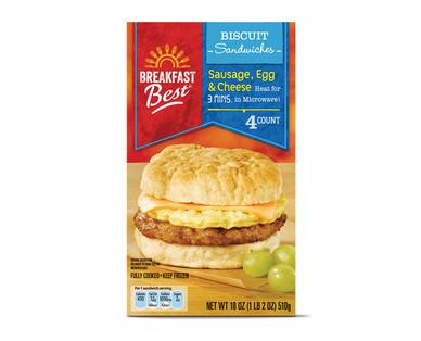 Breakfast Best Sausage, Egg & Cheese Biscuit Sandwiches