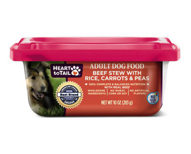 Heart to Tail Dog Food Tubs Beef Stew