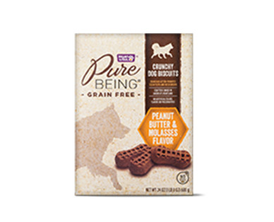Pure Being Grain Free Crunchy PB & Molasses Dog Biscuits