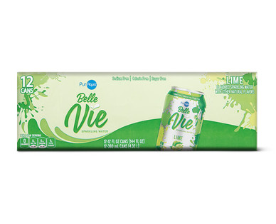 PurAqua Belle Vie Sparkling Water 12 Pack Lime