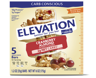 Elevation by Millville Cranberry Almond Breaktime Bars