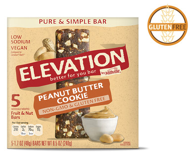 Elevation by Millville Peanut Butter Cookie Pure & Simple Bars
