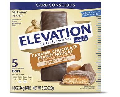 Elevation Caramel Chocolate Peanut Nougat Advance Bars