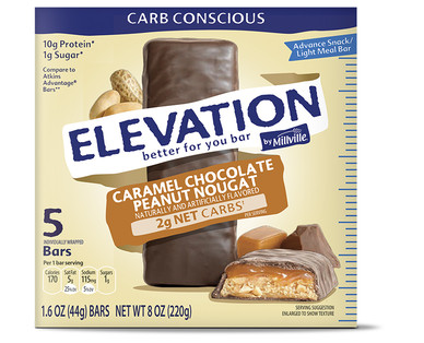 Elevation Caramel Chocolate Peanut Nougat Advance Bars