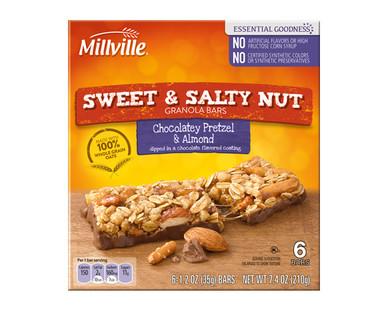 Millville Sweet & Salty Chocolatey Pretzel & Almond Bars