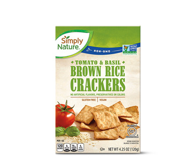 Simply Nature Brown Rice Crackers Tomato & Basil