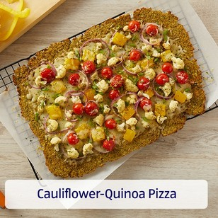 Cauliflower-Quinoa Pizza. View recipe.