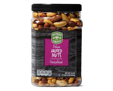 Southern Grove Unsalted Deluxe Mixed Nuts