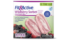 Fit and Active Wildberry Sorbet Ice Cream Bars. View Details.