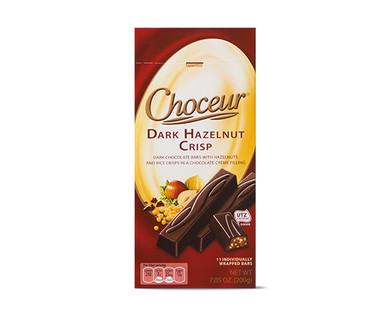 Choceur Créme Filled Mini Chocolate Bars - Dark Hazelnut Crisp
