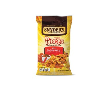 Snyder's of Hanover Hot Buffalo Wing or Honey Mustard & Onion Pretzel Pieces View 1