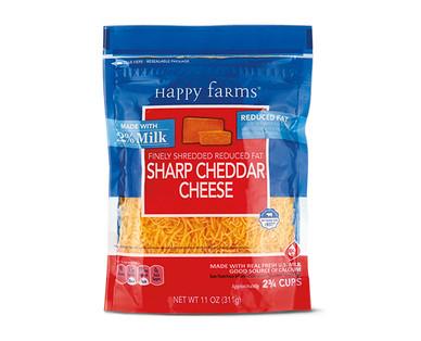 Happy Farms 2% Milk Sharp Cheddar Shredded Cheese