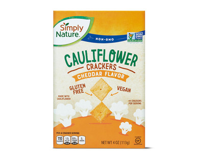 Simply Nature Cheddar Flavored Cauliflower Crackers
