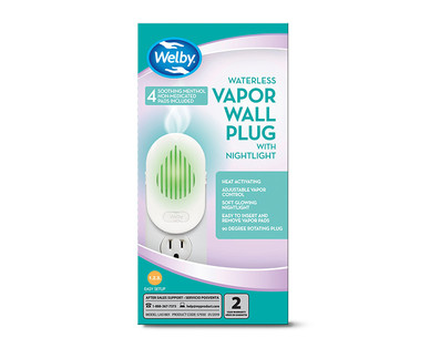 Welby Waterless Vapor Wall Plug and Nightlight or Refills View 2