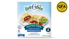 liveGfree Gluten Free Pepperoni Pizza Stuffed Sandwiches
