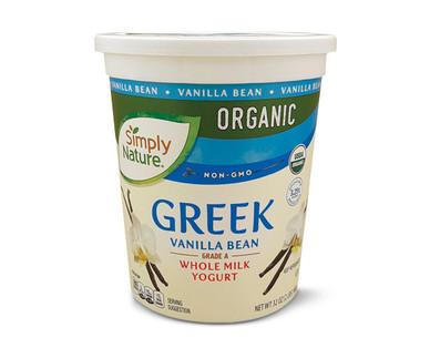 Simply Nature Organic Greek Vanilla Bean Whole Milk Yogurt