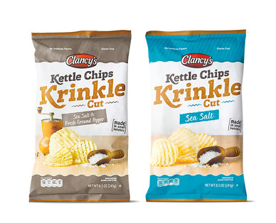 Clancy's Krinkle Cut Kettle Chips View 1
