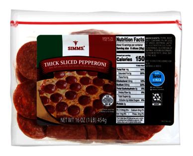 Simms Thick Cut Pepperoni